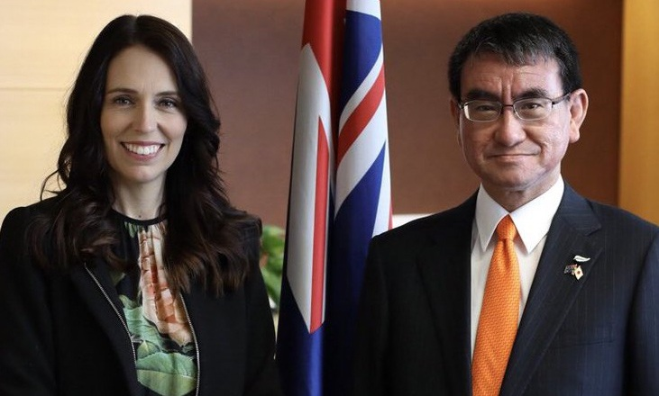 Japan and New Zealand, strategic partnership, Taro Kono, cooperation, world war 3, China, Auckland, Australia