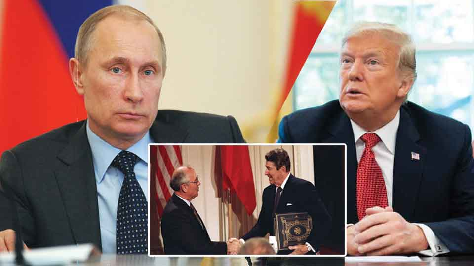 Russia threatens US with military retaliation after US pulls out from the landmark nuclear treaty