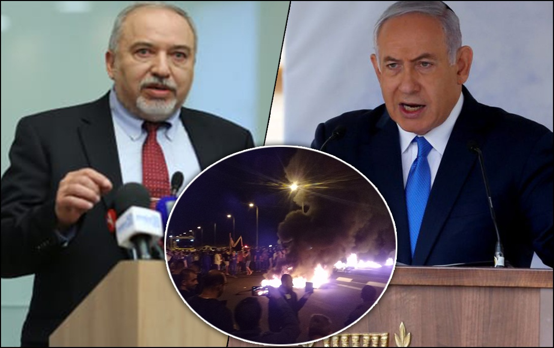 "Israeli Defence Minister resigns calling Israel's ceasefire with Hamas as ""surrendering to terror"""