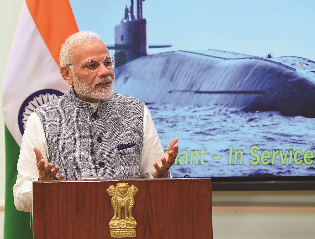 INS Arihant is a fitting reply to those indulging in 'Nuclear Blackmail' : Prime Minister Narendra Modi