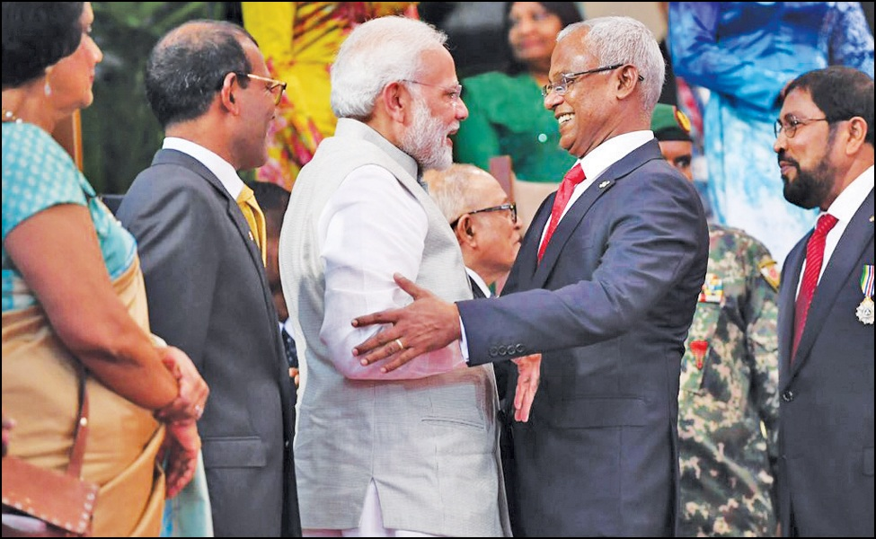 Indian PM Modi visits Maldives to attend swearing-in of newly elected President Solih