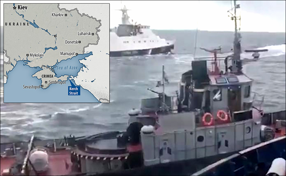 Russia detains Ukraine ships near Kerch Strait off Crimea; urgent UN meet called with surging tensions