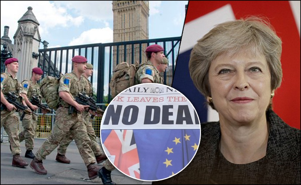 UK plans military deployment of 5,000 troops in ready-state for a 'No-Deal Brexit' scenario