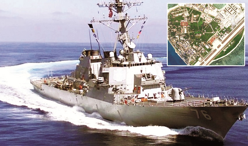 US warships sail near Chinese islands in South China Sea