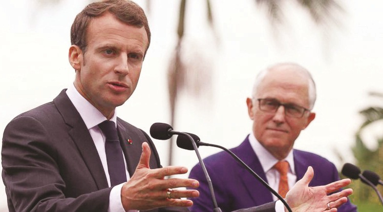 Macron proposes France-India-Australia strategic axis for Indo-Pacific to contain China