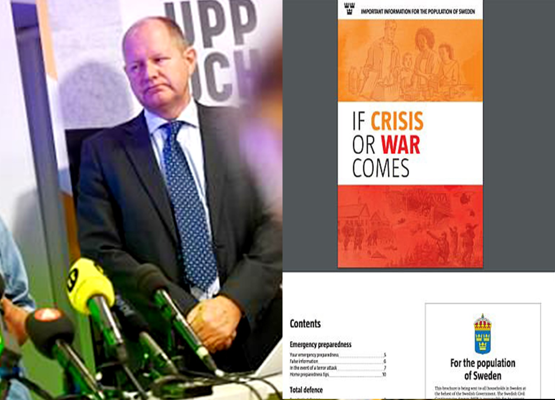 स्वीडनच्या जनतेने युद्धासाठी तयार रहावे – स्विडिश सरकारचा जनतेला इशारा