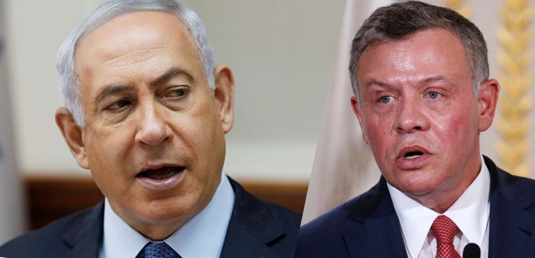 इस्रायली प्रधानमंत्री नेत्यान्याहू और जॉर्डन के राजा अब्दुल्ला में चर्चा
