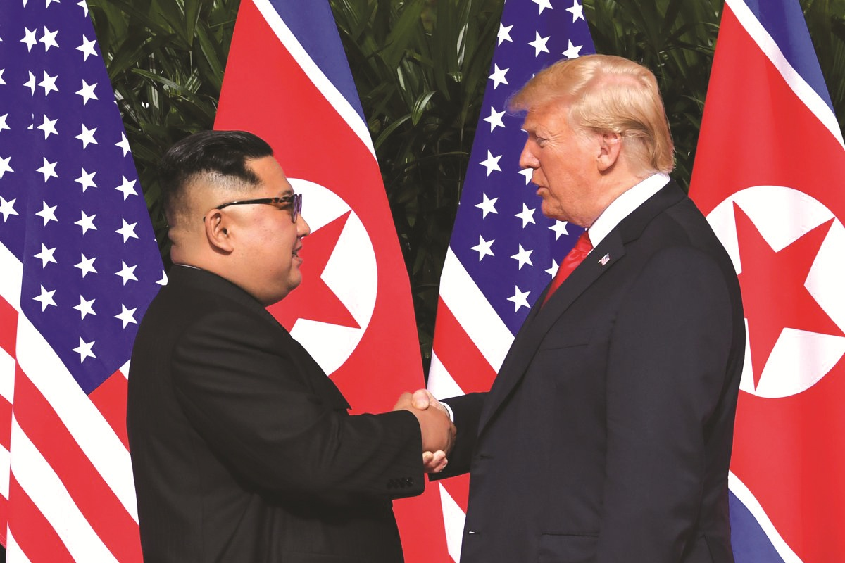 Historic meeting between President Trump and Dictator Un