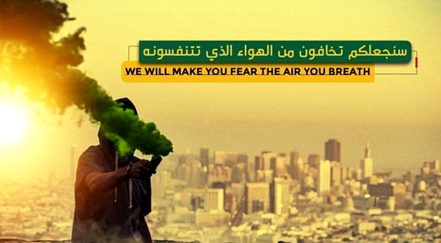 IS threatens of biological terror attacks on western countries, says 'We will make you fear the air you breathe'