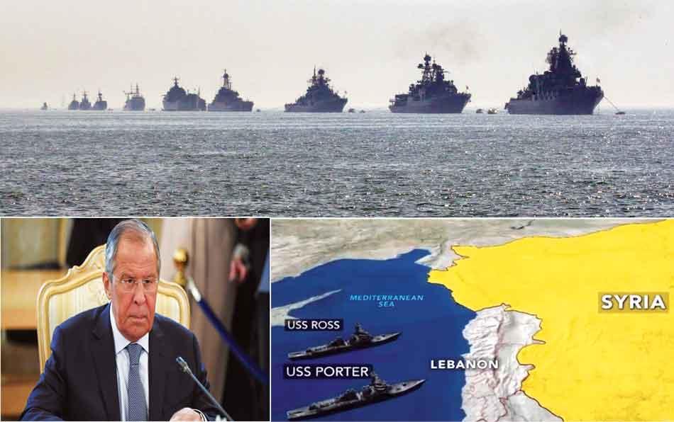 Idlib, interfere, Sergey Lavrov, USS Ross, ships, terrorists, conflict, ww3, Russia, NATO
