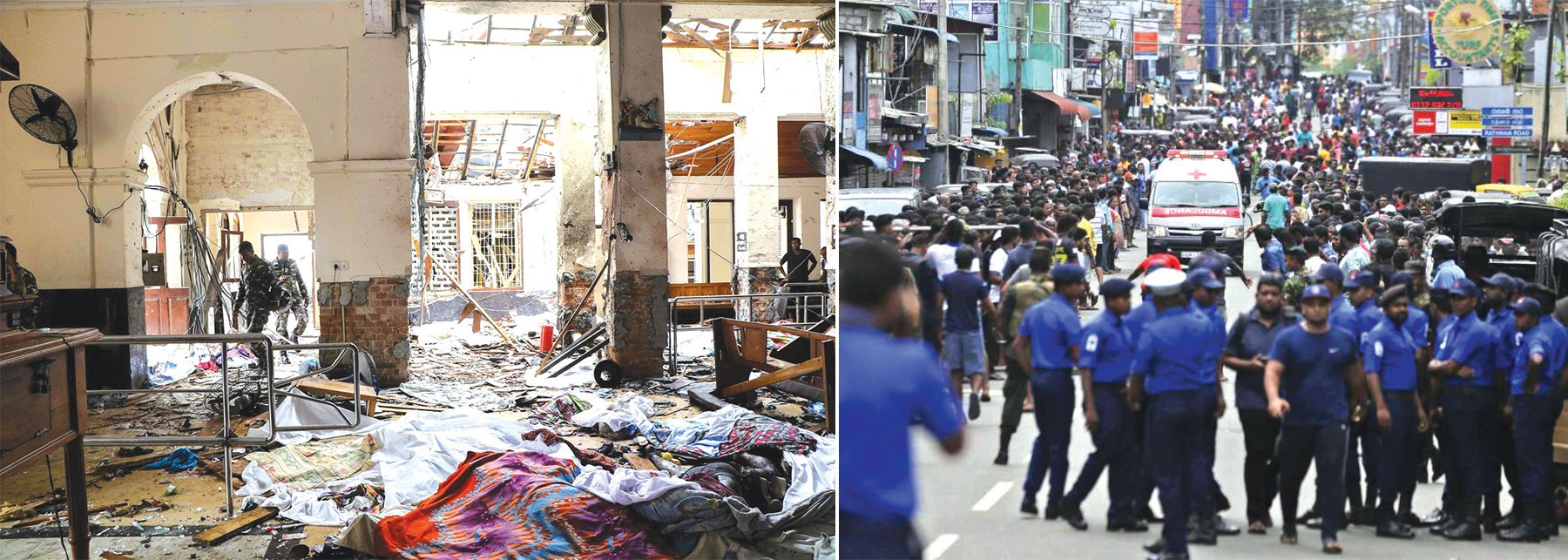 bomb blasts, claimed the lives, St. Anthony's Church, curfew, condemned the attacks, ww3, Sri Lanka, India