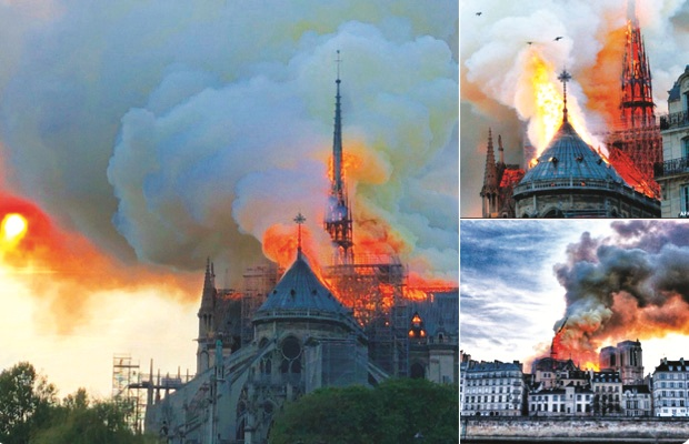 Notre Dame, fire erupted, Mark Steyn, church, restoration work, Paris, Emmanuel Macron