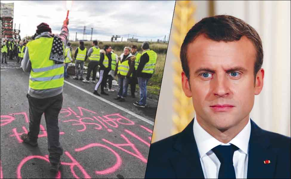 'Yellow Vests' protests deliver a blow to French President Macron, force him to suspend fuel tax hike