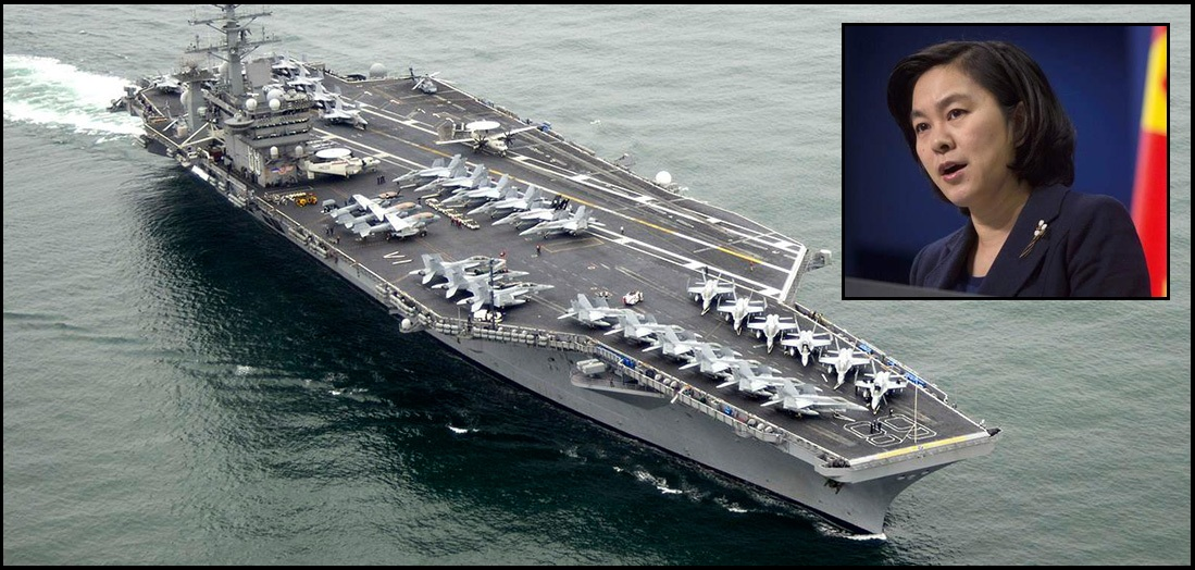 Deployment of US aircraft carrier in the Taiwan Strait will be considered incitement, warns China's foreign ministry
