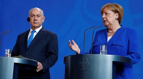 German Chancellor Angela Merkel accepts that the security of Israel faces a threat from Iran