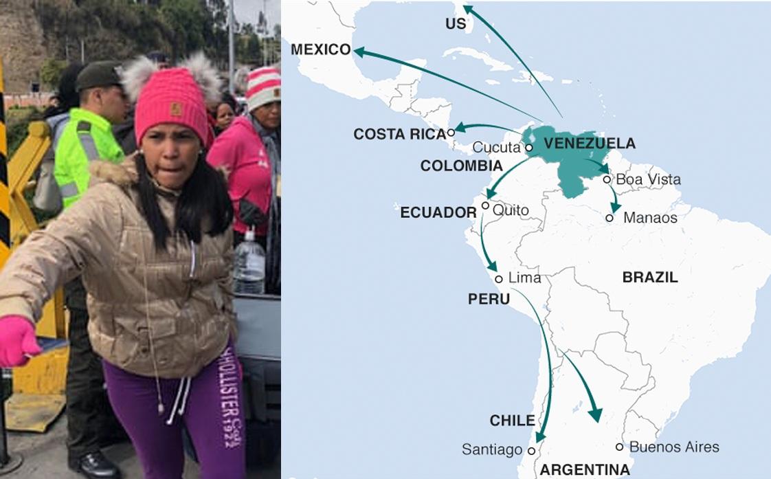 व्हेनेझुएलाच्या निर्वासितांमुळे शेजारी देश संकटात – ब्राझिलने सीमेवरील सैन्याची तैनाती वाढविली; 'पेरू'कडून सीमेजवळील प्रांतात आणिबाणी घोषित