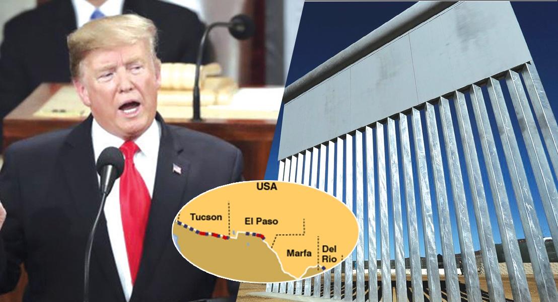 'मेक्सिको वॉल' का निर्माण यकीनन होगा – 'स्टेट ऑफ द युनियन' में ट्रम्प का वादा