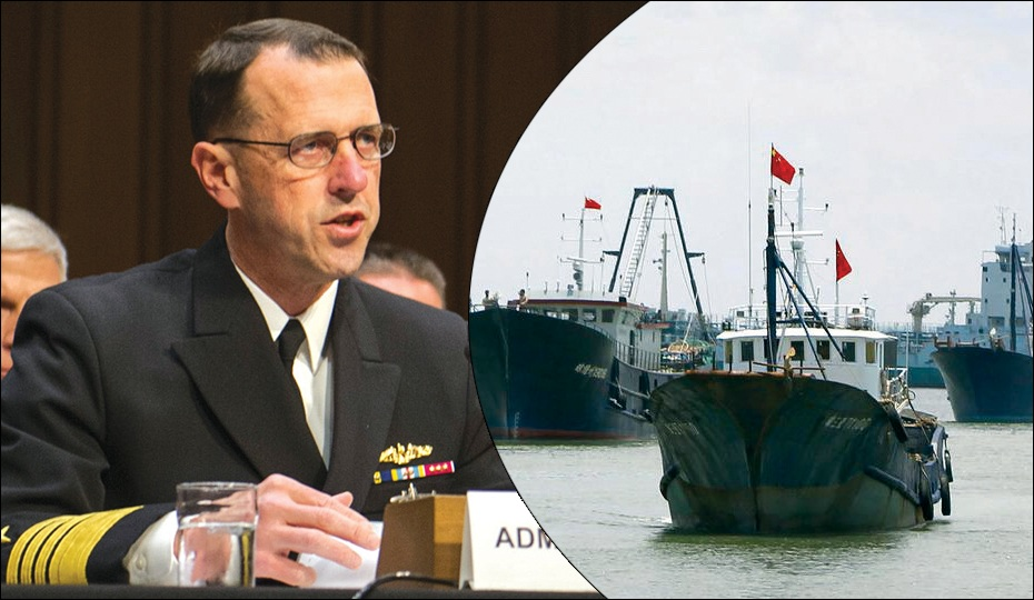 US asserts it will respond to China's non-naval vessels in South China Sea just like to nation's navy