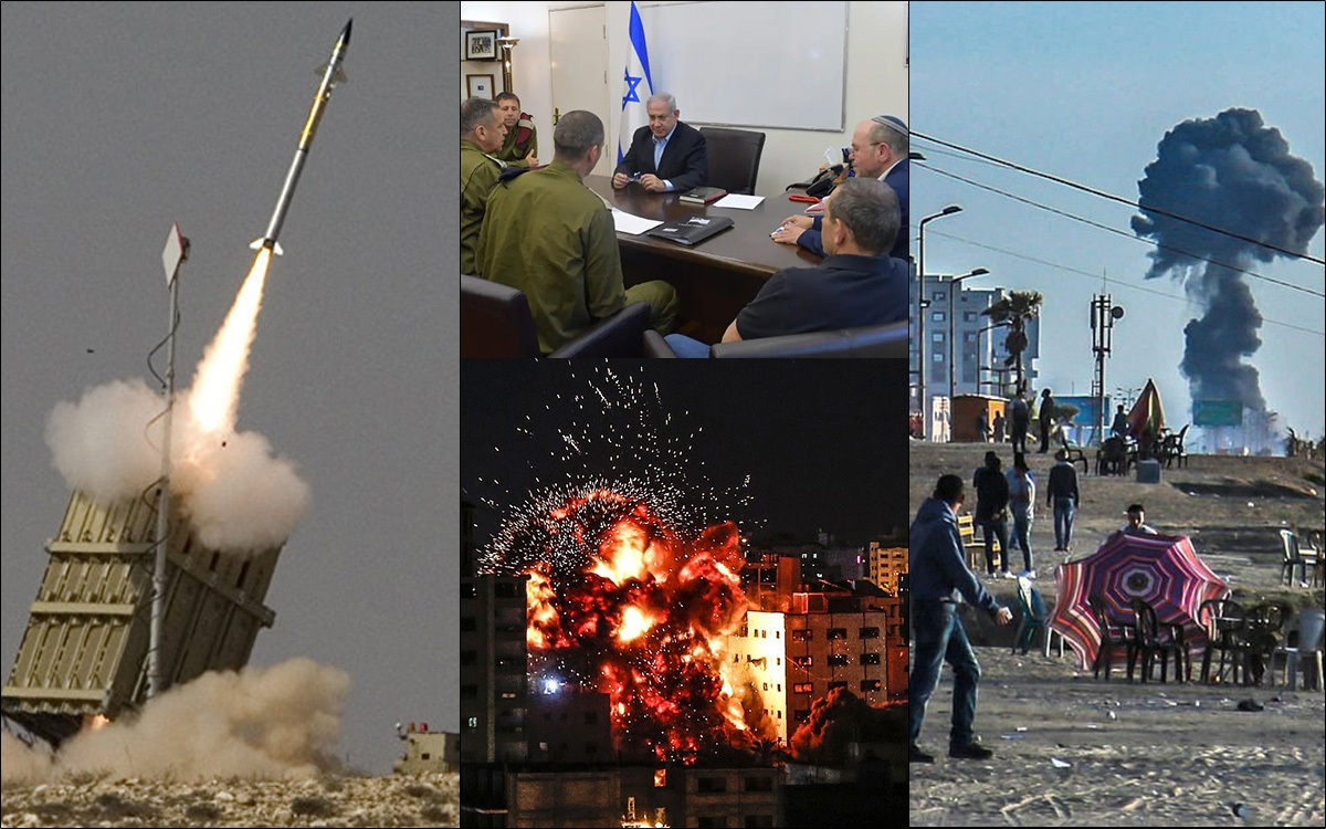 Israel declares to launch powerful counter-attack in response to 450 rocket attacks from Gaza
