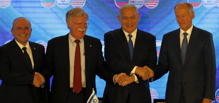During US-Israel-Russia trilateral Jerusalem Summit, the three nations concur on Syria but disagree on Iran