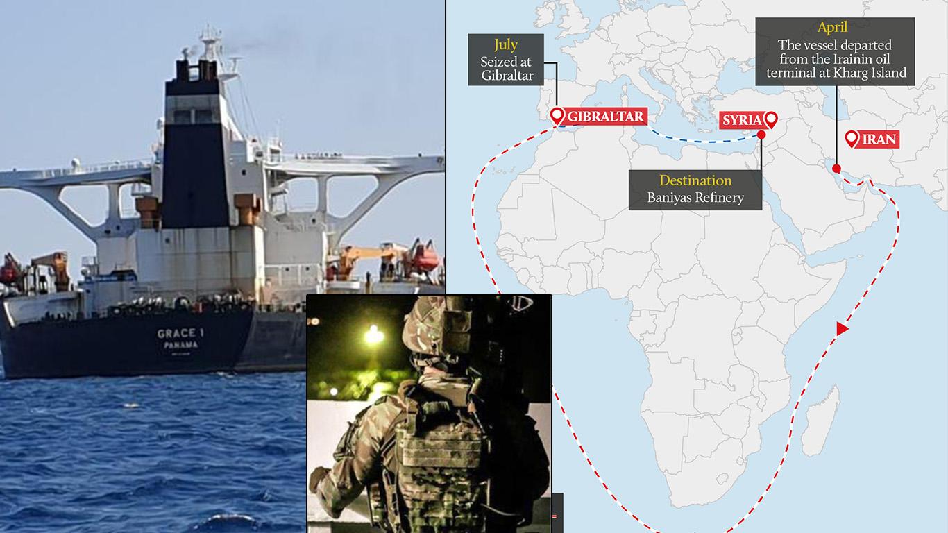 सीरिया को अवैध ईंधन सप्लाई कर रहा ईरान का टैंकर ब्रिटेन ने पकडा– ईरान से प्रत्युत्तर देने की धमकी
