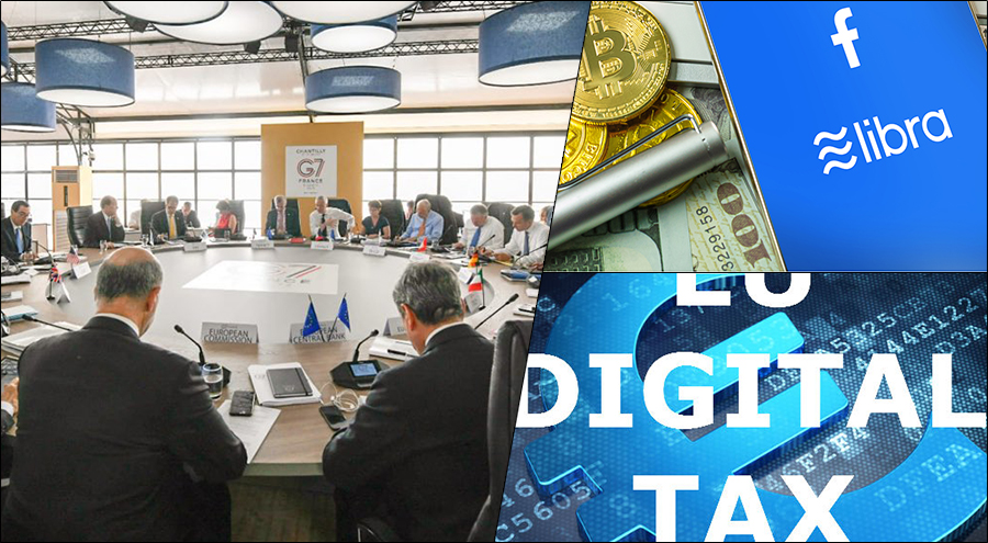 G7 nations concur on introducing Digital Tax for Big Tech and regulations on Facebook's Libra, other cryptocurrencies