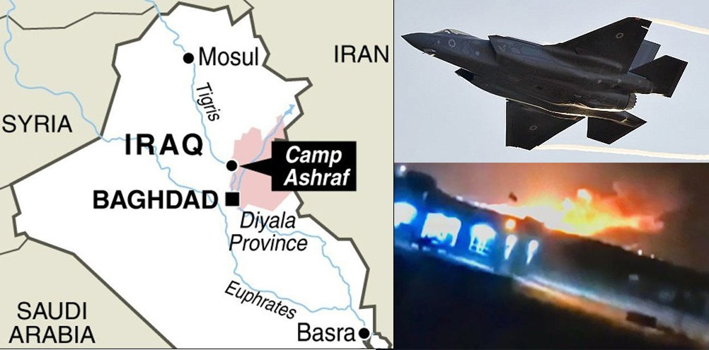Israeli F-35's launch air raids in Iraq on Iran's bases, claims an Arabic daily