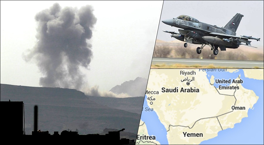 Saudi-UAE coalition initiate fierce air attacks on Yemen; Houthi rebels claim to launch drone attacks in retaliation