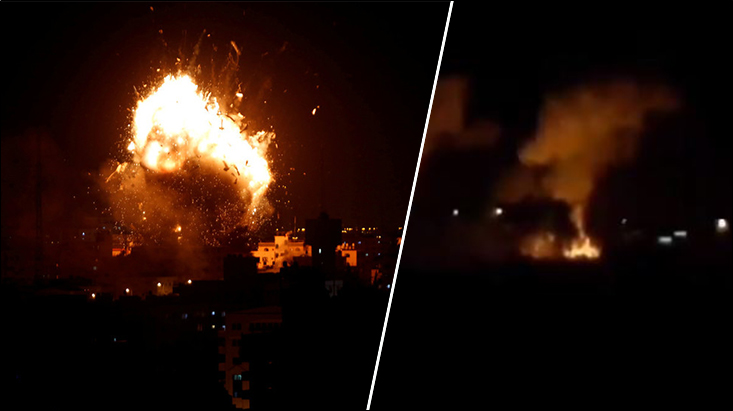 Israel targets terrorist locations in Gaza and Lebanon after Gaza fires 3 rockets