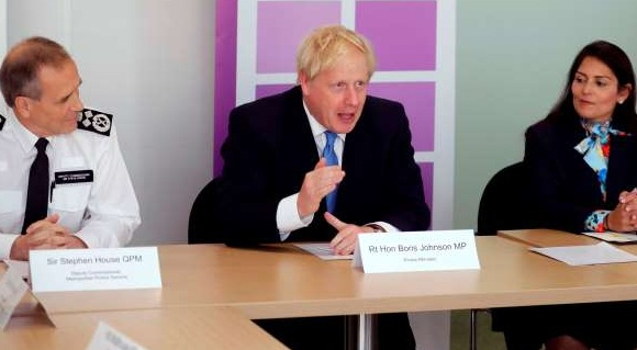 PM Boris Johnson vows to recruit and deploy 20,000 police officials to curb crime in UK