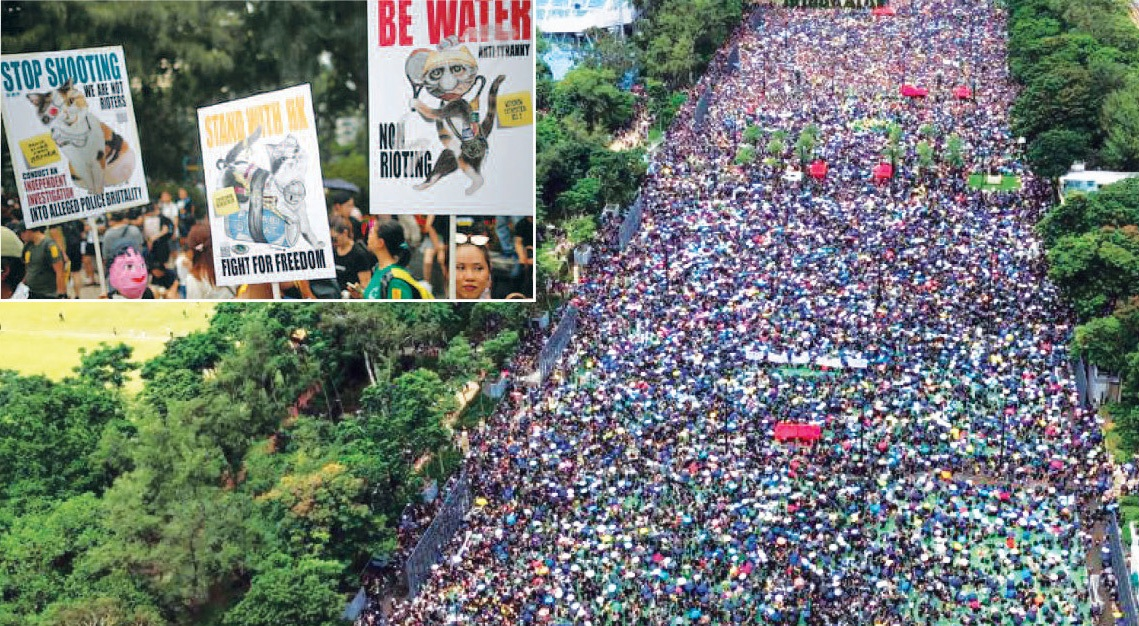 1.7 million people take to the streets in Hong Kong, 25% population joins pro-democracy protests against China