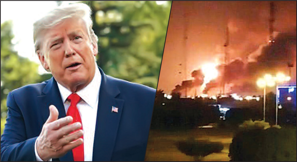 US officials present all alternatives before President Trump for retaliatory action against Iran in the wake of Saudi oil attacks