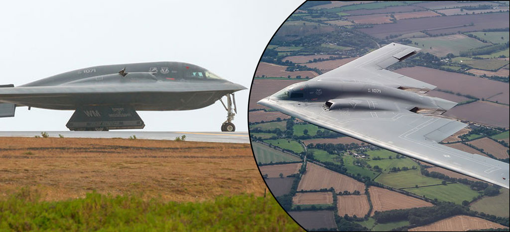 Three US B-2 stealth bombers arrive at UK airbase for a 'Secret Mission' in Europe