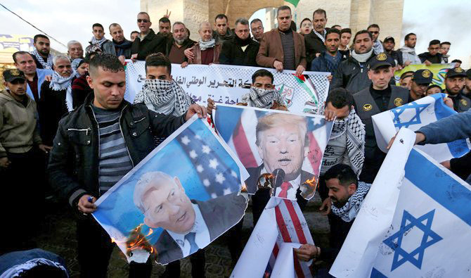 Angry protests erupt in Palestine against Trump's Deal of the Century