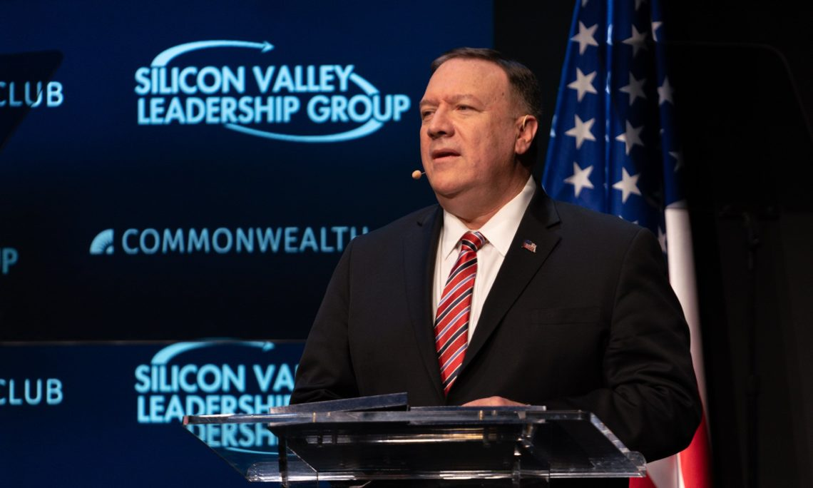 Don't bolster China, an 'Orwellian Surveillance state', with advanced tech, Secretary of State Pompeo warns US tech firms