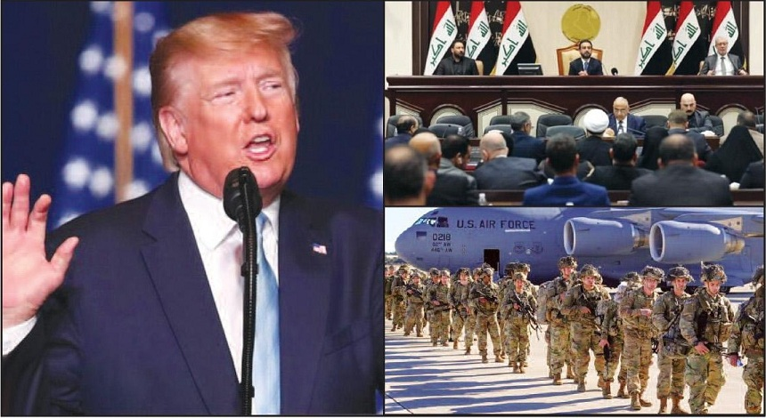 If Iraq asks US troops to leave, we will impose severe sanctions against them, warns US President Trump