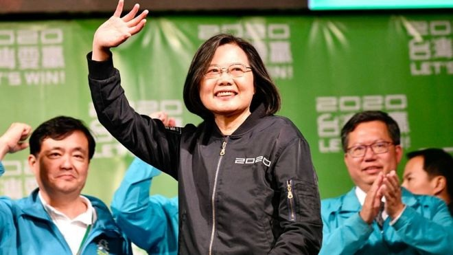 Taiwan election: China-sceptic Tsai Ing-wen wins landslide victory securing second term as President