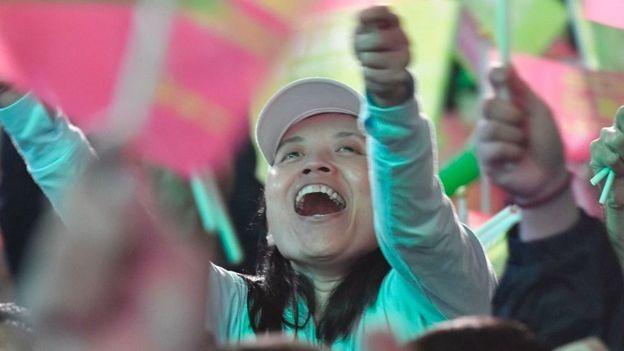 'त्साई ईंग-वेन', विजयी, हान कुओ-यू, लोकशाहीवादी सरकार, कारवाई, तैवान, चीन, हॉंगकॉंग