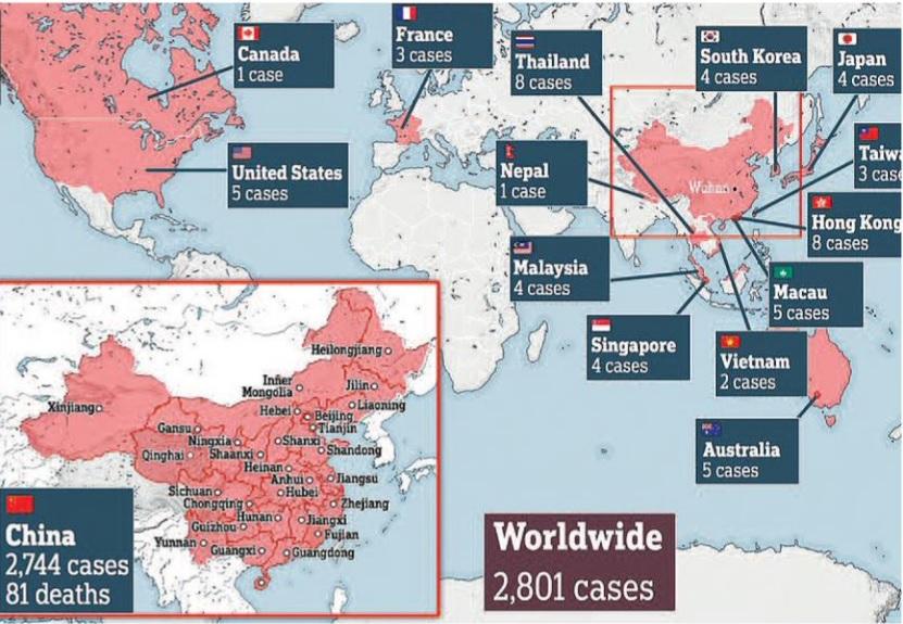'वुहान व्हायरस' की चपेट में एक लाख से भी अधिक लोग  – ब्रिटेन के 'इम्पिरियल कॉलेज' का दावा