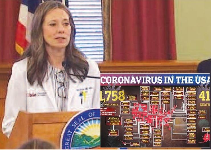 अमरिका के 'ओहिओ' प्रांत में 'कोरोना व्हायरस' से एक लाख मरीज – स्वास्थ्य यंत्रणा के प्रमुख का दावा