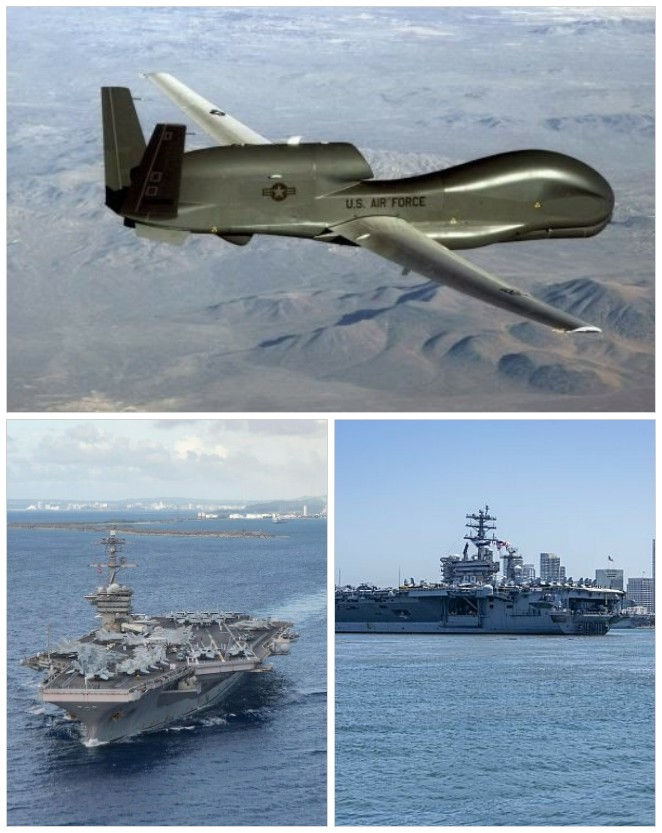 'इंडो-पॅसिफिक' के लिए अमरीका के तीन विमानवाहक युद्धपोत तैनात