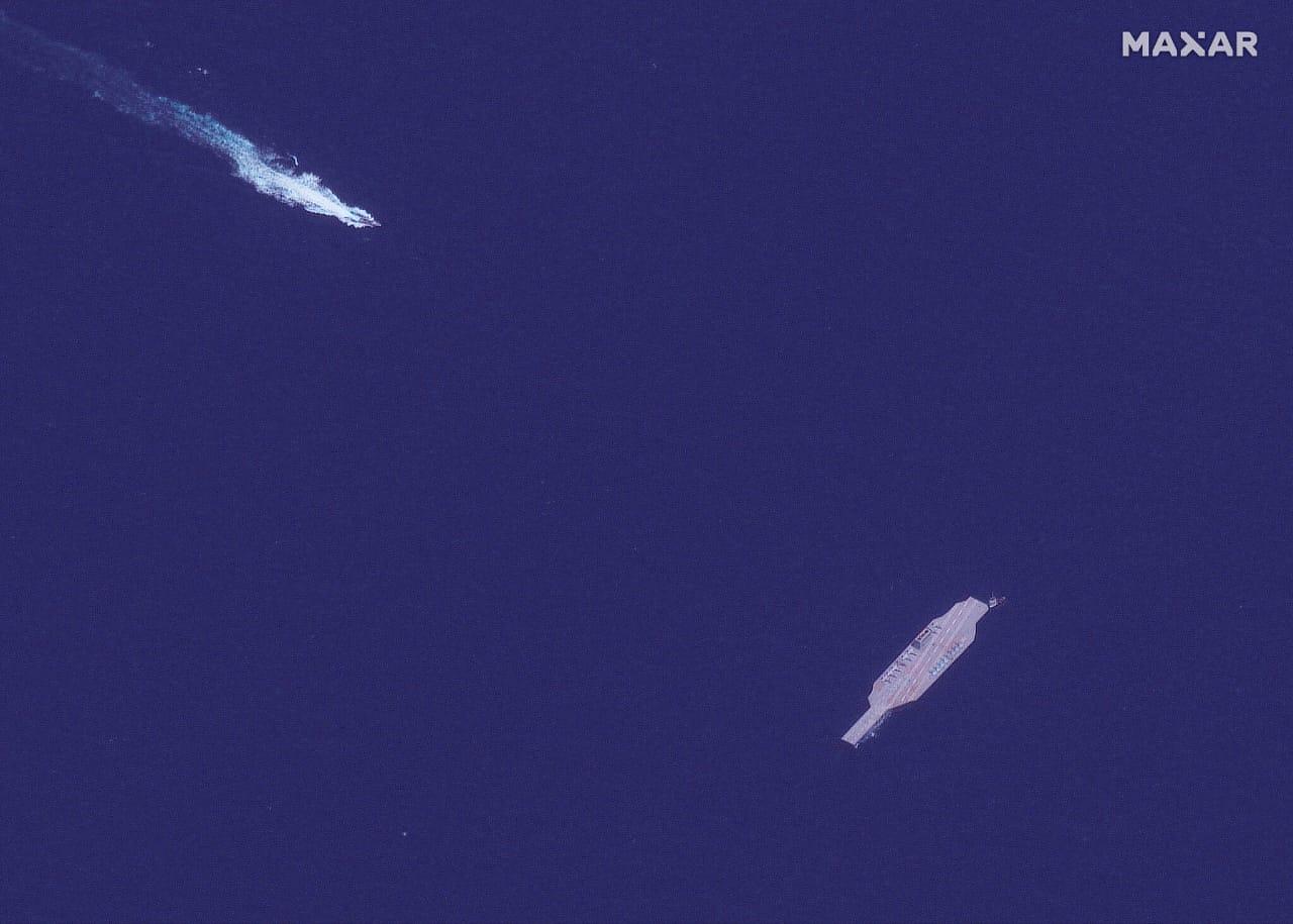 विमानवाहू युद्धनौका, इराण, अमेरिका