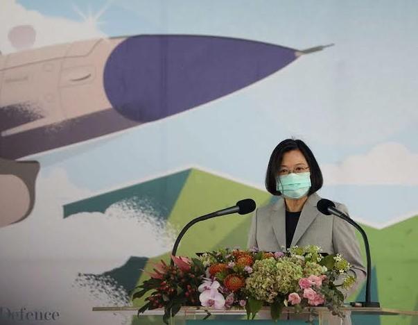 Taiwanese President Tsai Ing-wen warns against rising China threat