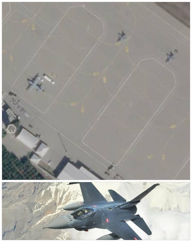 Satellite images reveal presence of Turkey's F-16s on Azerbaijan airbase
