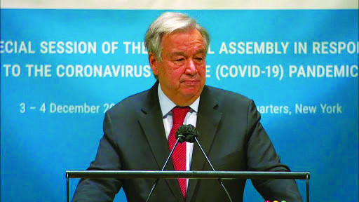 Damage from coronavirus cannot be undone for many decades, UN chief warns