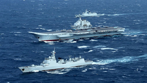 As China's Liaoning carrier strike group exercises near Taiwan Strait, US aircraft carrier enters South China Sea
