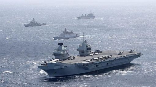 Britain's HMS Queen Elizabeth arrives in South China Sea defies Chinese warnings