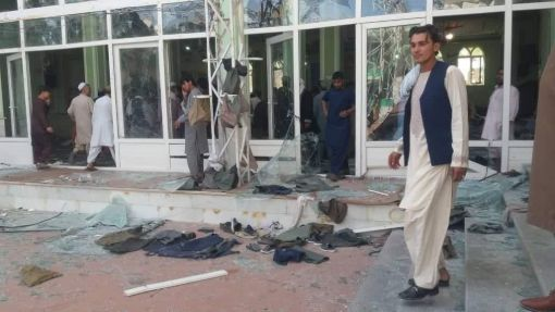 Suicide blast at a place of worship in Afghanistan kills at least 60 people