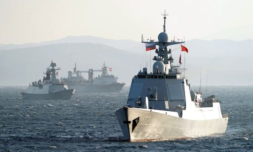 Russian and Chinese navies conduct joint naval patrol in the Sea of Japan